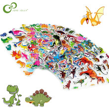 6bdab7ce56 5 feuilles/lot Mixte Petit Frais de Bande Dessinée Dinosaure Autocollants  pour Enfants Garçons Animal PVC Puffy Bébé Professeur .