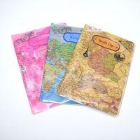 New World Trip Map Travel Passport Covers for Men , PVC Leather ID Card Bag Passport holder Passport Wallets 14*10cm Passport & ID Holders