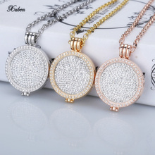 New 35mm coin holder pendant necklace fit my 33mm coins white crystal Christmas woman gift fashion jewelry long chain hot sale