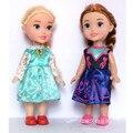 Disney Игрушки 2 шт./компл. 16 См Детские Куклы Замороженные Принцесса Анна Эльза Куклы для Детей и Игрушки Carttoon Куклы Дети Подарочные Девушки день рождения