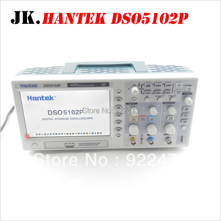 H003 Hantek DSO5102P Digital storage oscilloscope 100 mhz 2 Canaux 1GSa/s 7 ''TFT LCD mieux que ADS1102CAL +