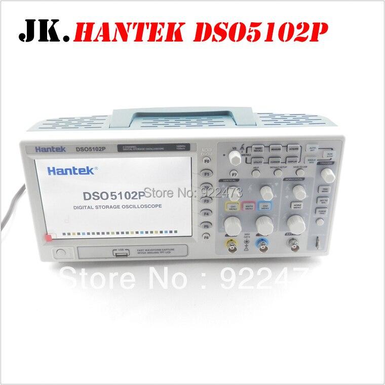 H003 Hantek DSO5102P oscilloscope Numérique à mémoire 100 mhz 2 Canaux 1GSa/s 7 ''TFT LCD mieux que ADS1102CAL +