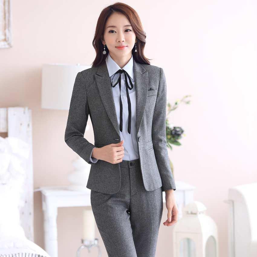 2017spa Uniforms For Women 2 Piece Dress Coat Suit Formal Wear