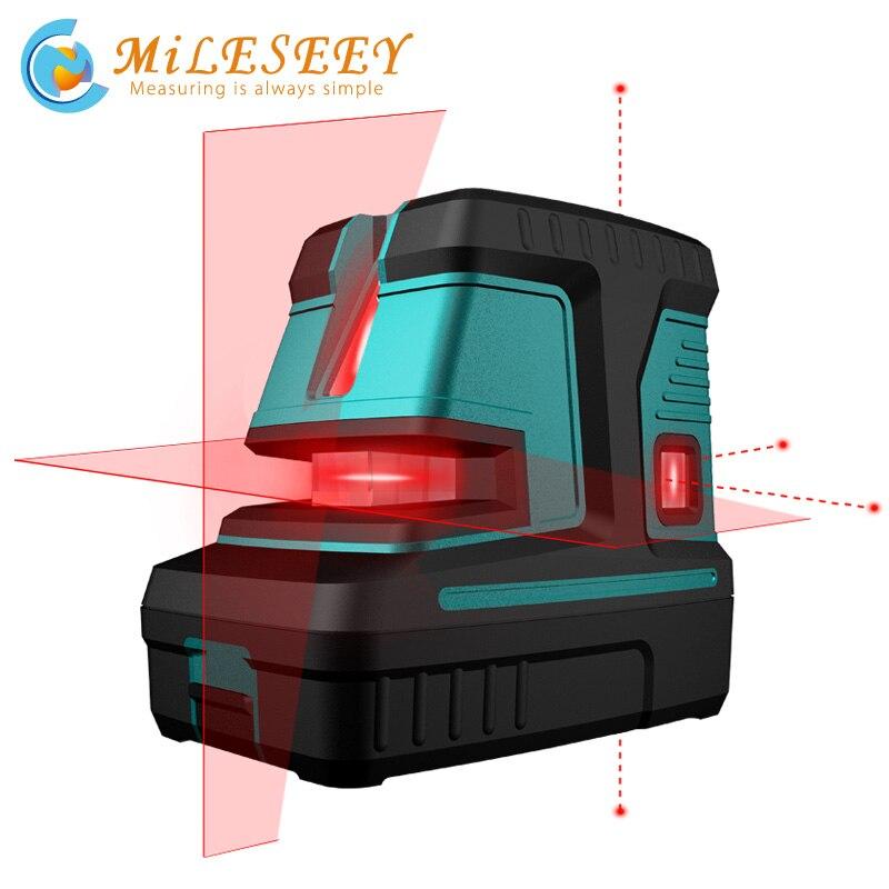 Mileseey L32R poziom lasera krzyż 5 punkt pionowy poziome lasery
