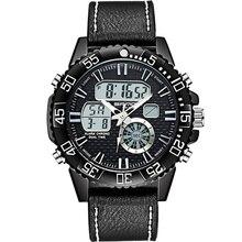 Top Brand Sport Women Watches Chronograph Waterproof Dual Digital Display Quartz Movement Leather Ladies Wristwatches SD771