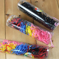 FAMSHIN 50 шт./компл. 2016 цветная модная дикая Резиновая лента, бутылка конфет многоцветная маленькая резиновая лента цветной шарф для волос - фото