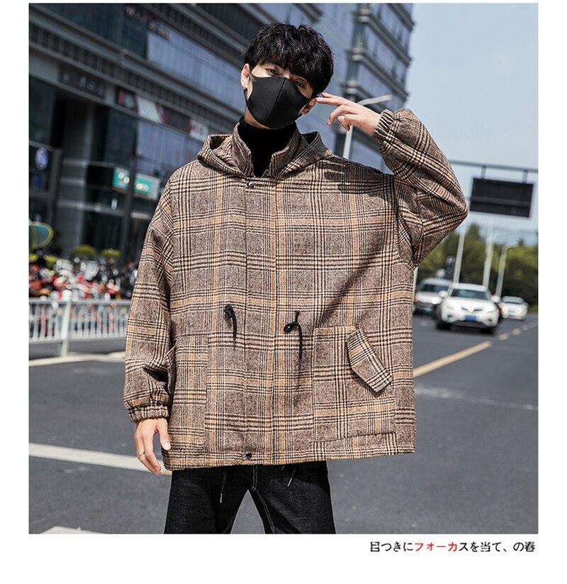 Male Long Coat Oversize Lapel Button Sobretodos Hombre Overcoat Streetwear (33)