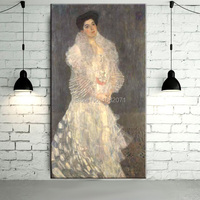 Gustav Klimt Portrait of Hermine Gallia Oil Painting On Canvas Reproduction High Quality Hermine Gallia Portrait Paintings