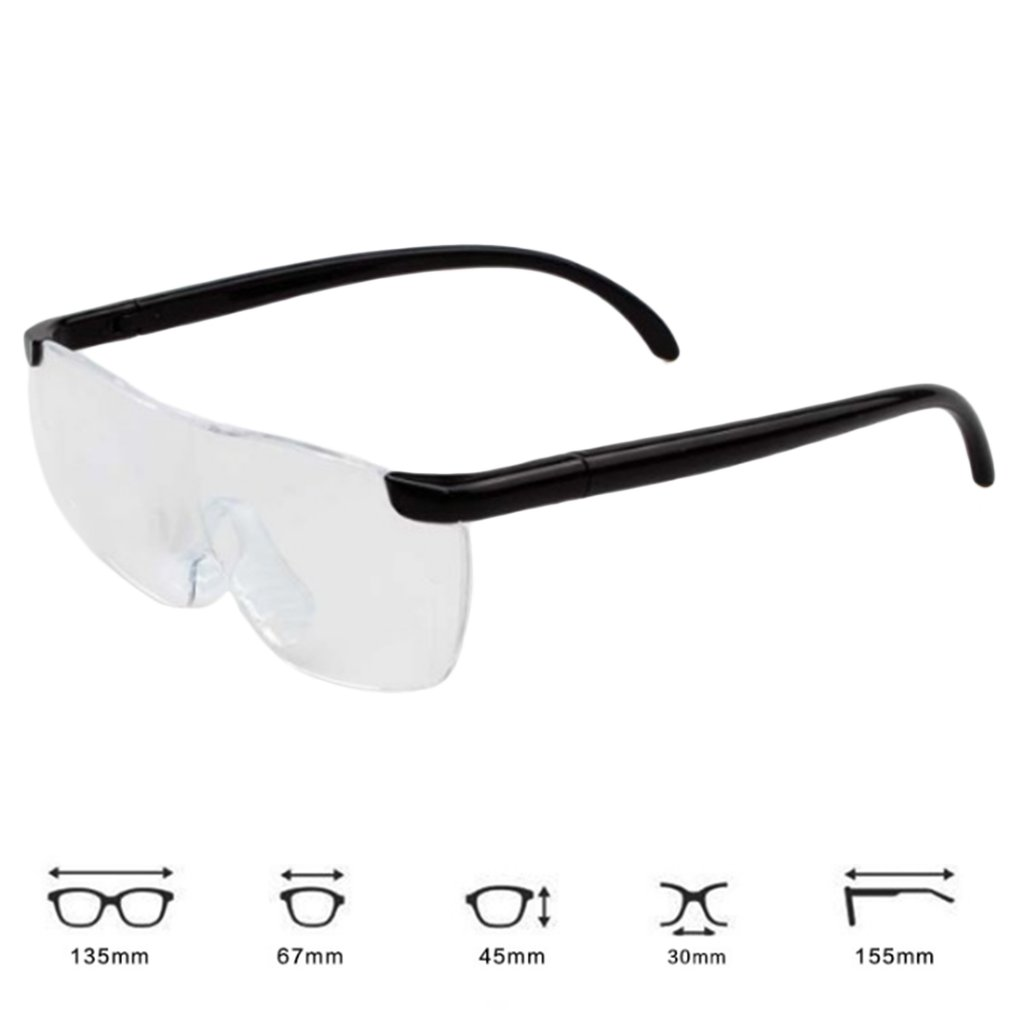 HTB1WRjzX2fsK1RjSszbq6AqBXXag 1.6X Magnifying Reading Glasses Flameless Lightweight Eyewear Magnifier 250 Degree Vision Lens for The Elderly Toiletry Kits