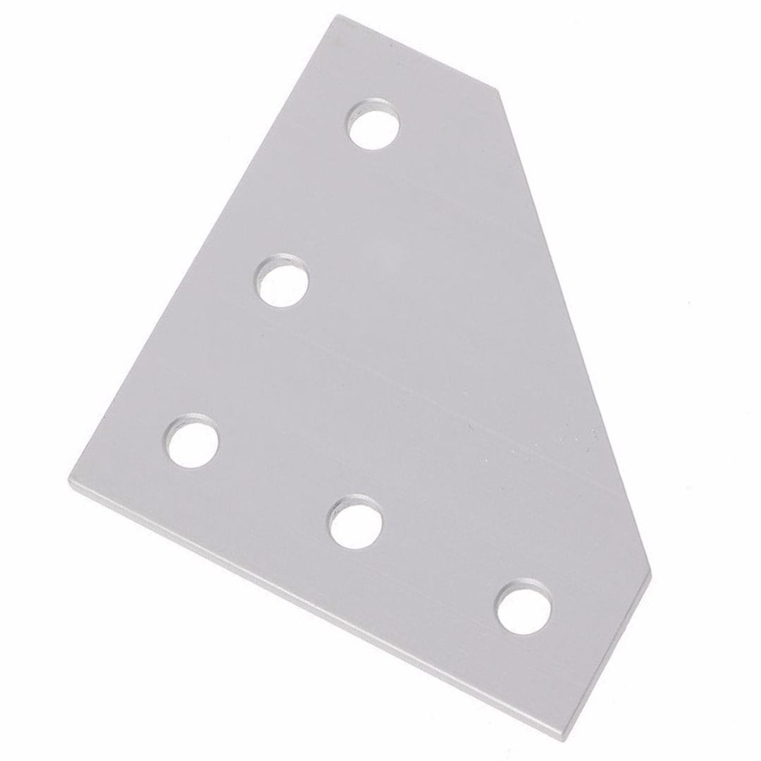1pcs 5 Holes 90 Degree L type Joint Board Plate Corner Angle Bracket Connection Joint Strip for 2020 Aluminum Profile цена