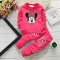 Alta calidad conjuntos de ropa de bebé de algodón recién nacido bebé ropa de las muchachas de Minnie Mickey muchachos fijados ropa de los niños unisex traje al por mayor