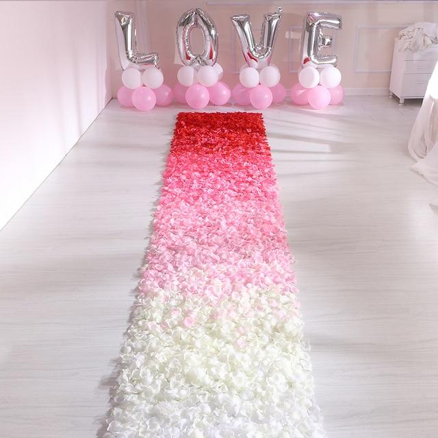 500pcs משי רוז עלי כותרת חתונת קישוט מזויף פרח עלי כותרת קונפטי אירוסין יום נישואים מסיבת בית דקור אבזרים