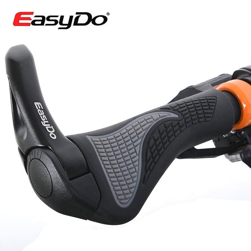 ФОТО EasyDo Bike Ergonomic MTB Touring Handlebar Kraton Bicycle Cycle Cycling Grip Rubber Aluminium Alloy Barend Bar End