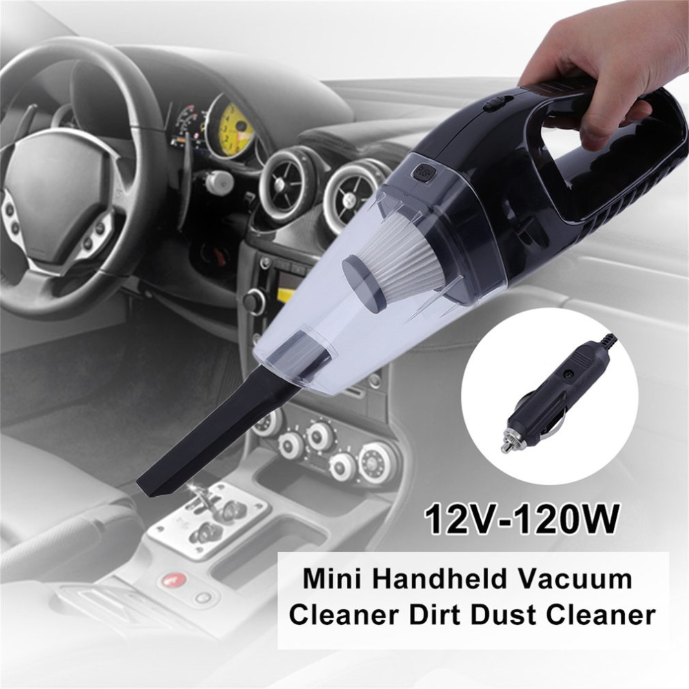 Portable Low Noise Auto Car Mini Handheld Vacuum Cleaner Dirt Dust Cleaner Collector Cleaning Appliances 12V-120W