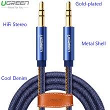 Ugreen автомобиля hifi джинсовые 3.5 мм мужской aux кабель для xiaomi mi5 ми-6 аудио aux кабель для iphone 5 6 7 плюс samsung s6 s7 s8 динамик DVD