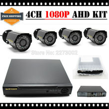 HKES New 4CH CCTV System 1080N AHD DVR NVR 4PCS 2.zero MP IR Out of doors P2P Wired AHD CCTV Digital camera Safety System Surveillance Equipment