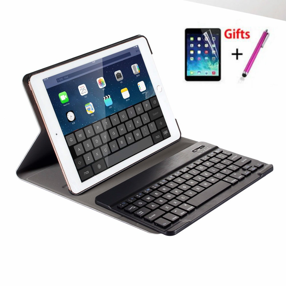 Detachable Wireless Bluetooth Keyboard Case for IPad 5 / 6 / Air / Air 2 / Pro 9.7 High-Quality Ultra Thin Leather Funda Cover