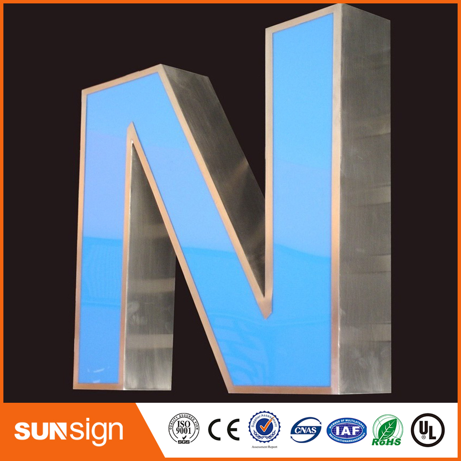 Custom LED Light Box Letters Stainless Steel LED Letter Lights
