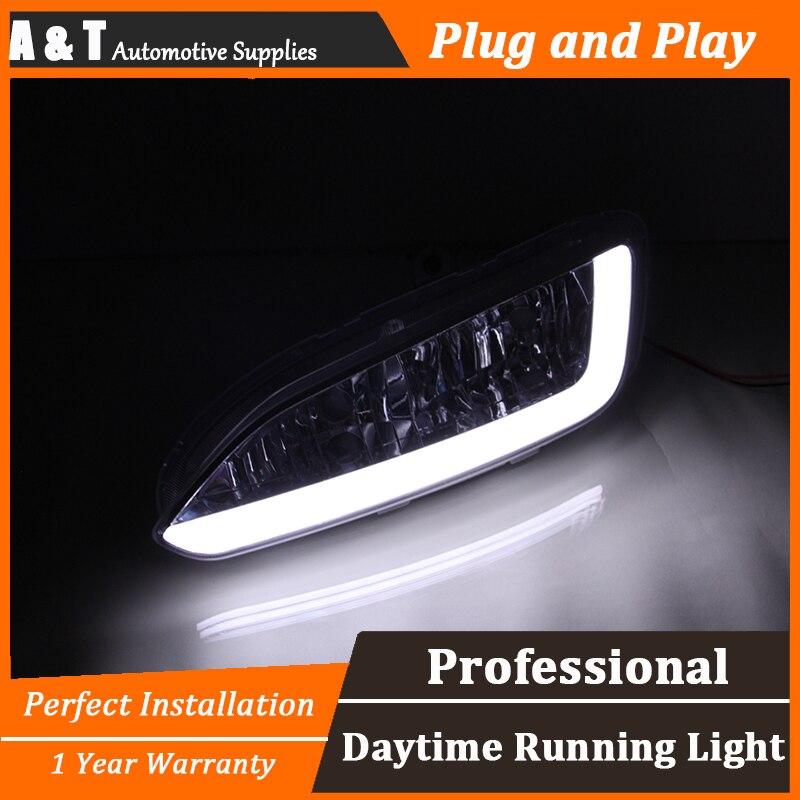 car styling For Hyundai IX45 LED DRL For Hyundai IX45 led fog lamps led daytime running lights High brightness guide LED DRL