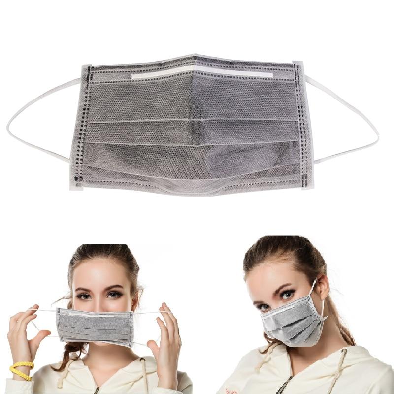 Amistoso 4 Capas Anti Polvo Máscara De Protección Al Carbono Respiratoria Máscara N95 De Filtro De Polvo De La Gripe Máscara De Gasa De Seguridad Industrial Máscara Médica