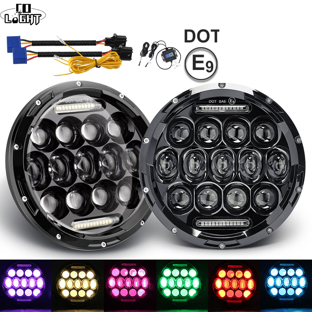 5d 75w Led Headlight 7inch Round H4 High Low Beam Headlamp For Hummer H1 H2 7 Headlight For Lada 4x4 Urban Niva 7 Car Headlamp Wide Selection; Car Light Assembly