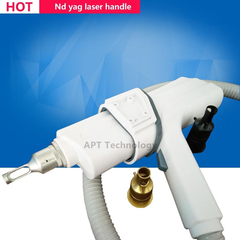 doble laser rod Switched Nd Yag Laser handle's  Handpiece  Quality assurance q switched nd yag laser probe 1064nm