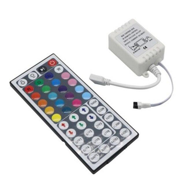 Contrôleur de lumière Led RGB, 12v 6A, LED de contrôle 44 touches, pour bande lumineuse LED, 3528, 5050