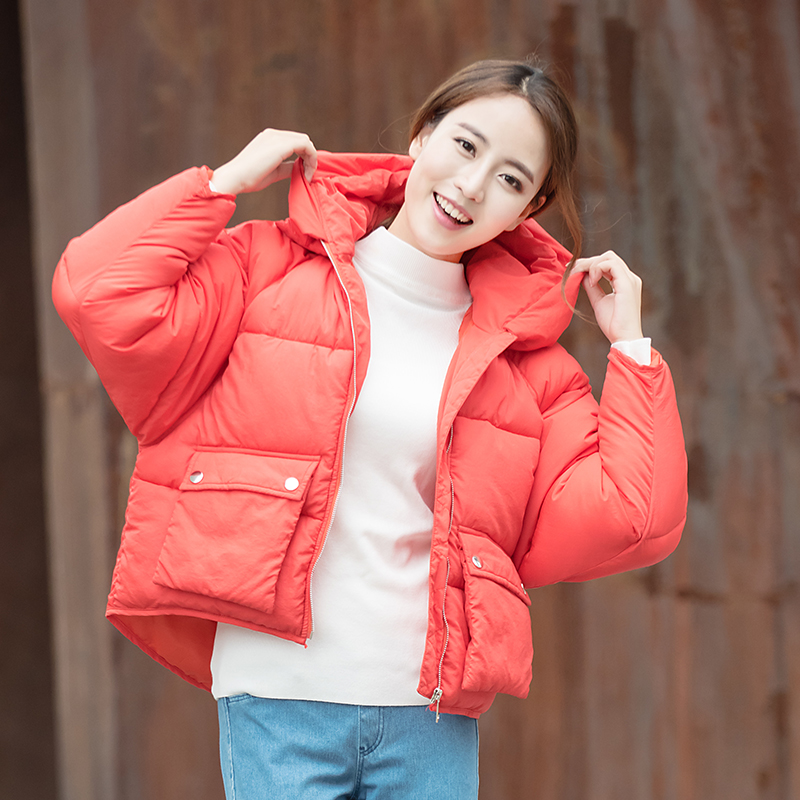 Winter Jacket Women Cotton Short Jacket 2017 New Girls Padded Slim Solid Thick Warm Hooded Parkas Coat Female Autumn Outerwear 2017 new winter coat for women slim black solid hooded long warm cotton parkas female thicker zipper red jacket padded