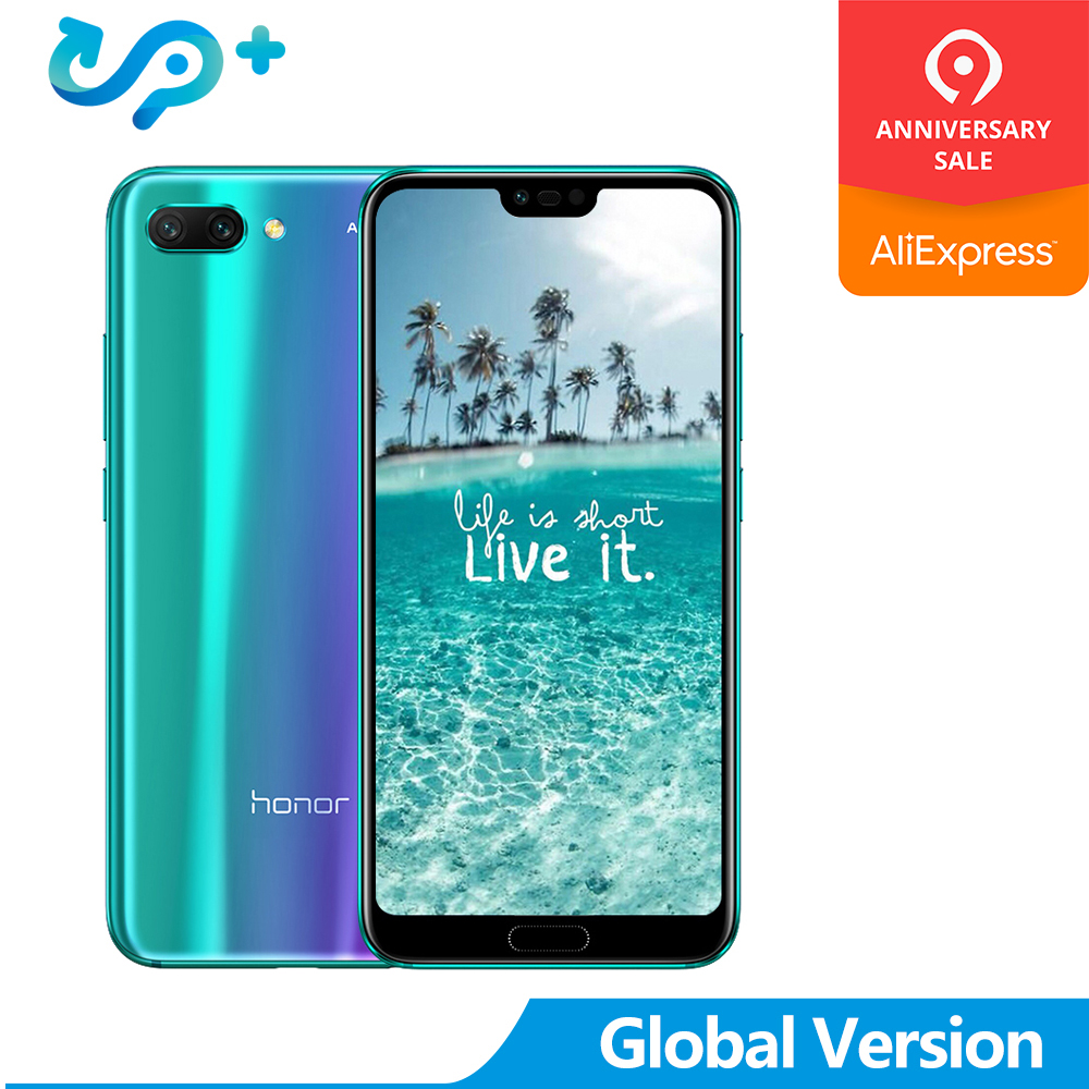 2019 New Arrival Huawei Honor 10 honor10 24.0MP AI Camera 24.0 Cellphone Kirin 970 AI Processor Changer Color Glass Cover