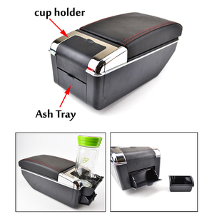 Image 5 - Arm Rest For Toyota Yaris Vitz Echo 1998 2005 Dual Layer Armrest Center Console Storage Box Cup Holder 2000 2001 2002 2003 2004