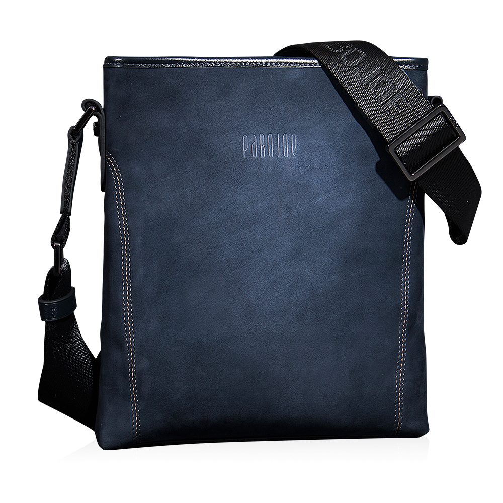 PABOJOE Men's Messenger Bags Genuine Leather Vintage Men Shoulder Bag Man Crossbody bag pabojoe duffle bags 100