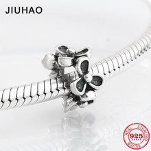 763f66eff 925 Sterling Silver fashion hollow out Trifoliate flower shape beads Fit  Original Pandora Charm Bracelet Jewelry making