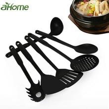 6 pcs Plastic Kitchenware culinary Nonstick Cookware Set Kit