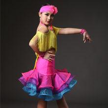 9be885fad04a Bambino dei bambini del capretto professionale del vestito da ballo latino  per le ragazze sala da ballo abiti da ballo per i bam.