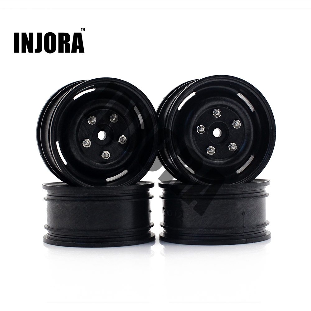 INJORA 4PCS Plastic Wheel Rim 1.9 Inch for 1/10 RC Rock Crawler Axial SCX10 90046 Tamiya CC01 RC4WD D90 D110 TF2