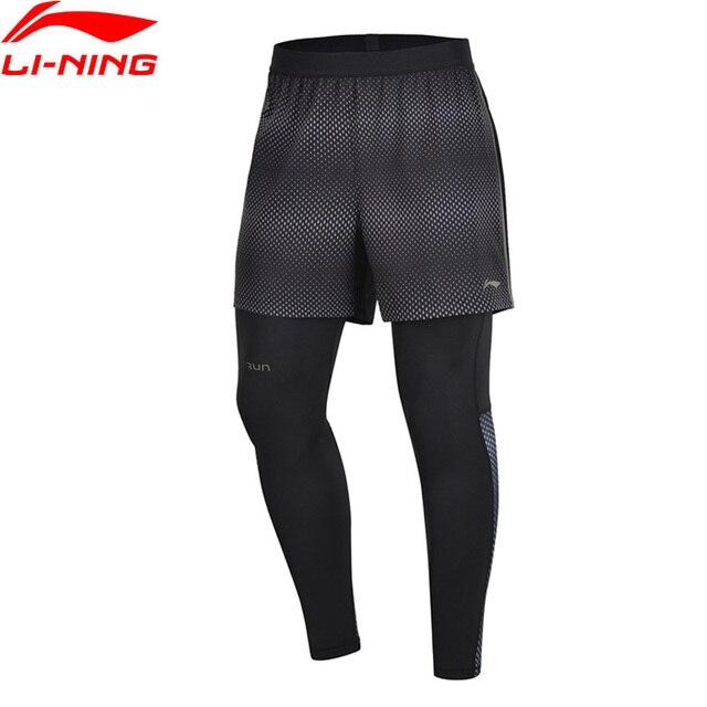 Li-Ning Men Running Series Tights Base Layer Shorts Regular Fit Polyester Spandex LiNing Sports Pants AKSP033 MKY452