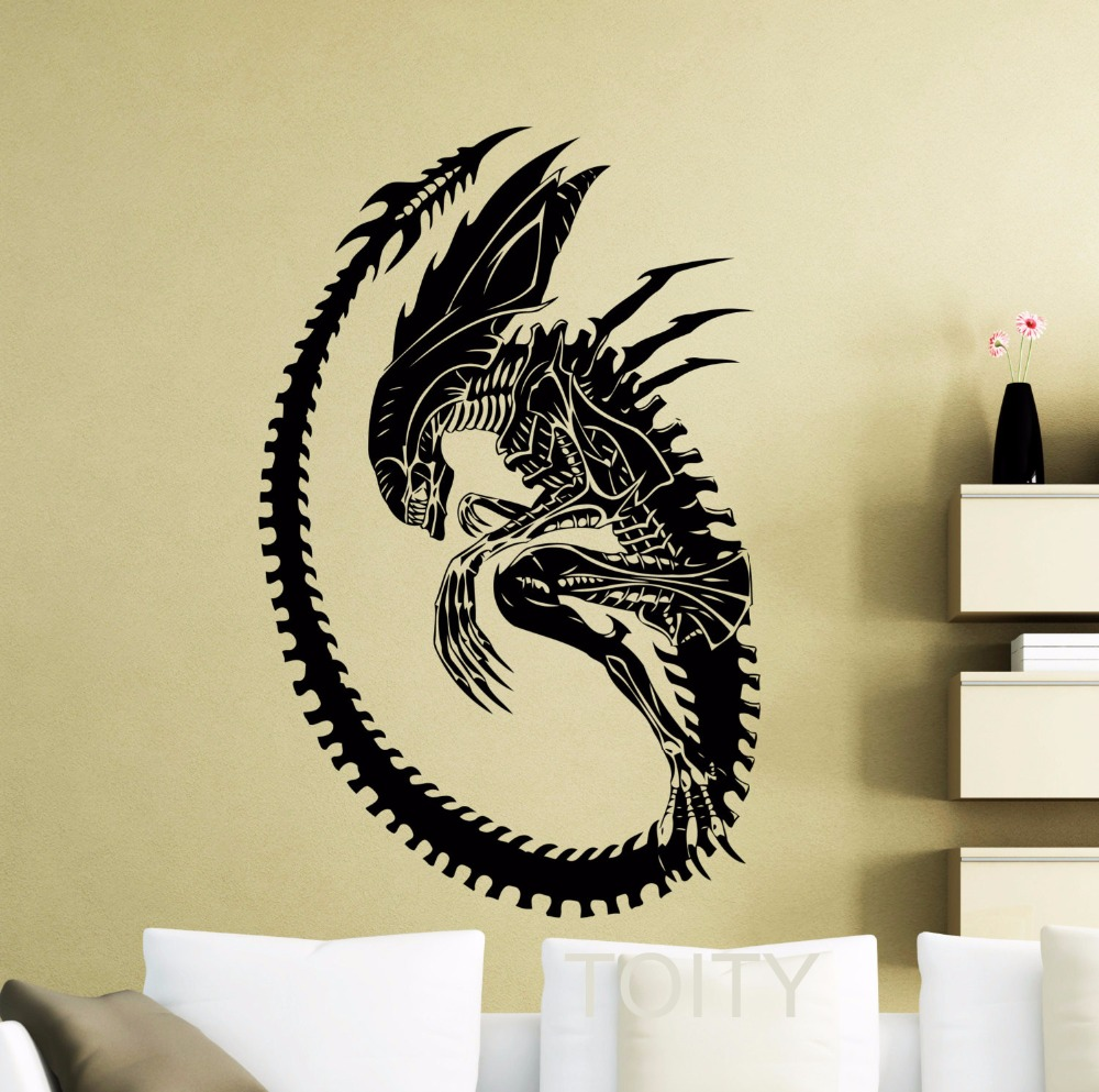 ᗕAlien Wall Sticker 1979 Movie Poster Vinyl Decal Home Kids Boy ...