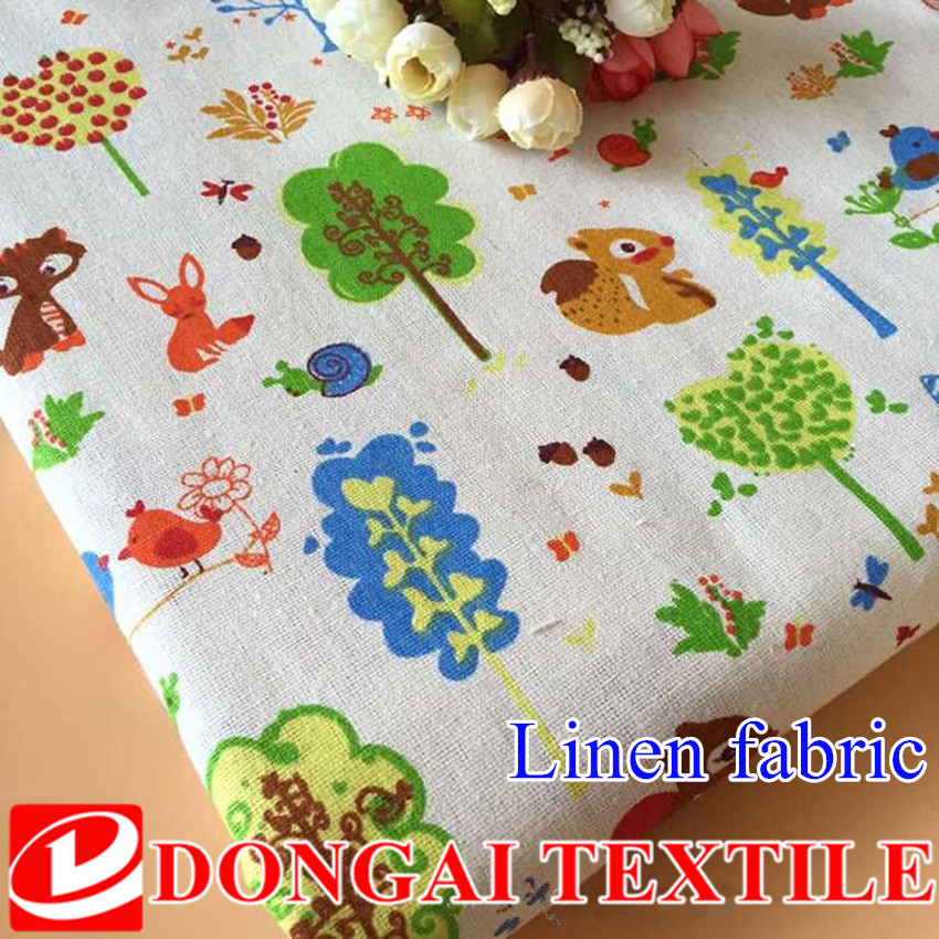 <font><b>100*150cm</b></font> cartoon <font><b>Linen</b></font> <font><b>Cotton</b></font> Fabric For DIY Patchwork Home Textile Sewing Accessories image