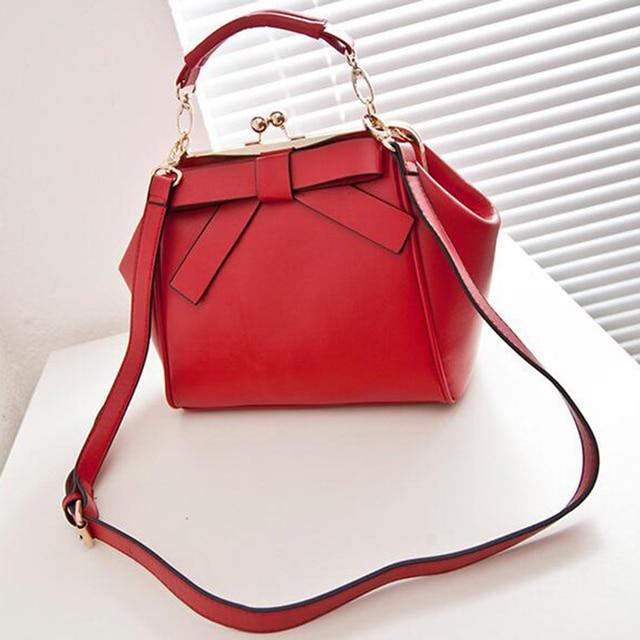 2017 New Female Shoulder bag Famous Brand Bow Designer Fashion Women Handbag Messenger Crossbody bag bolsa feminina bolsos LJ577
