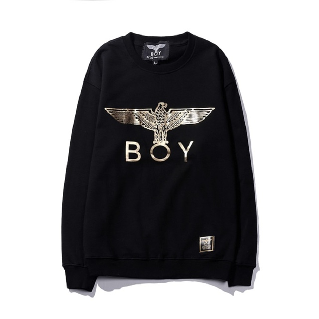 Hawk BOY LONDON Gold font Hip-Hop Dance RAP ROCK Street Fashion Cotton Hooded Sweatshirt With the Boy Lable  6 Colors