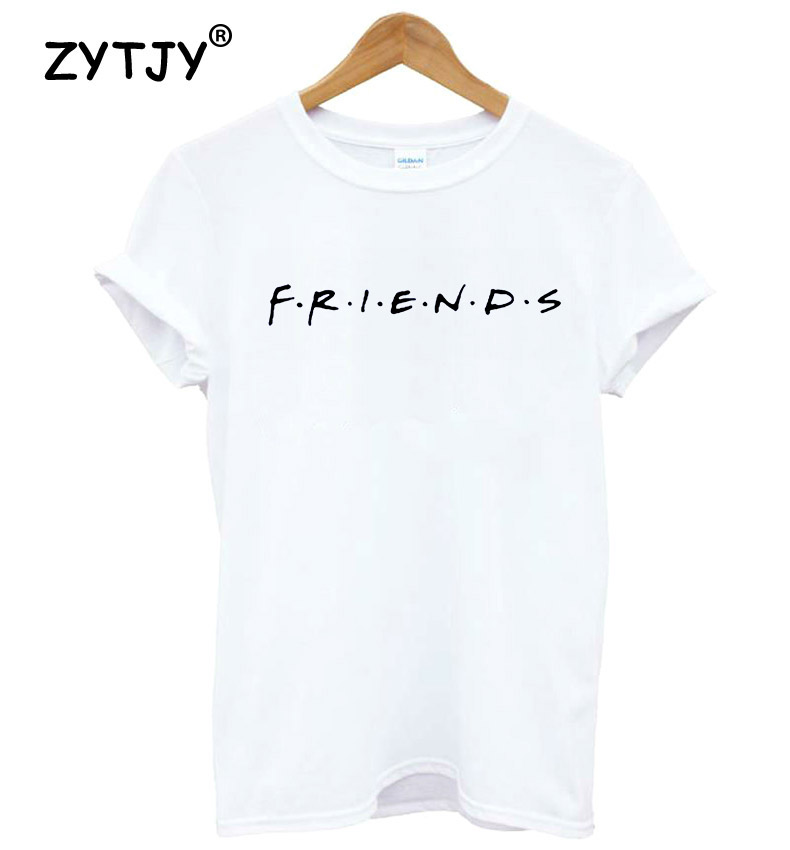 FRIENDS Letter Print Women tshirt Cotton Casual Funny t shirt For Lady Girl Top Tee Hipster Drop Ship S-20