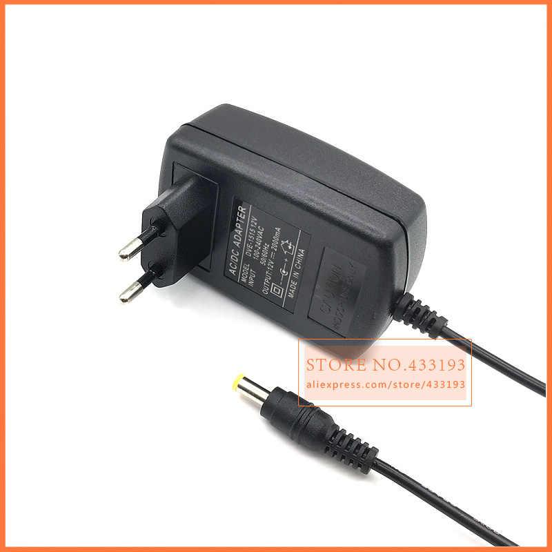free shipping 1X 12V2A AC 100V-240V Converter Adapter DC 12V 2A 2000mA  Power Supply EU Plug 5 5mm x3 0mm general With the needle