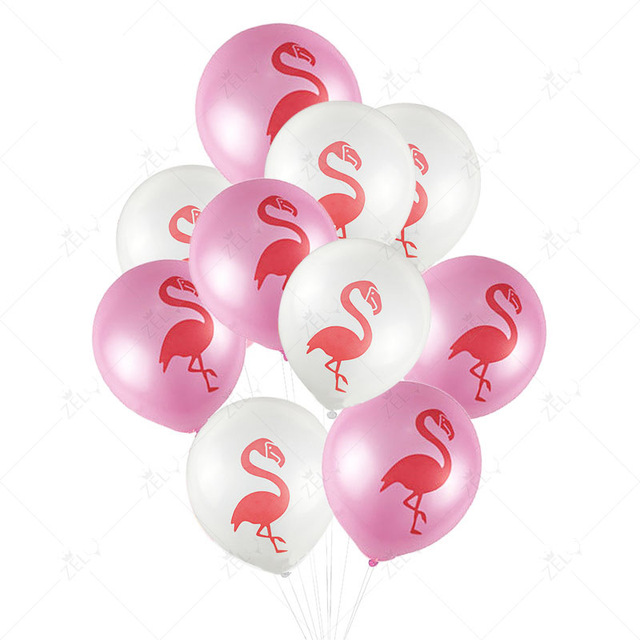 Zljq Pink White 10 Inches Latex Flamingo Balloons Baby Shower Decorations Diy Wedding Anniversary Birthday