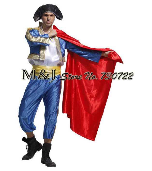 Free shipping!! Adults dress Spanish bullfighters dancing costumes The matador costumes Male masquerade performance clothing ...