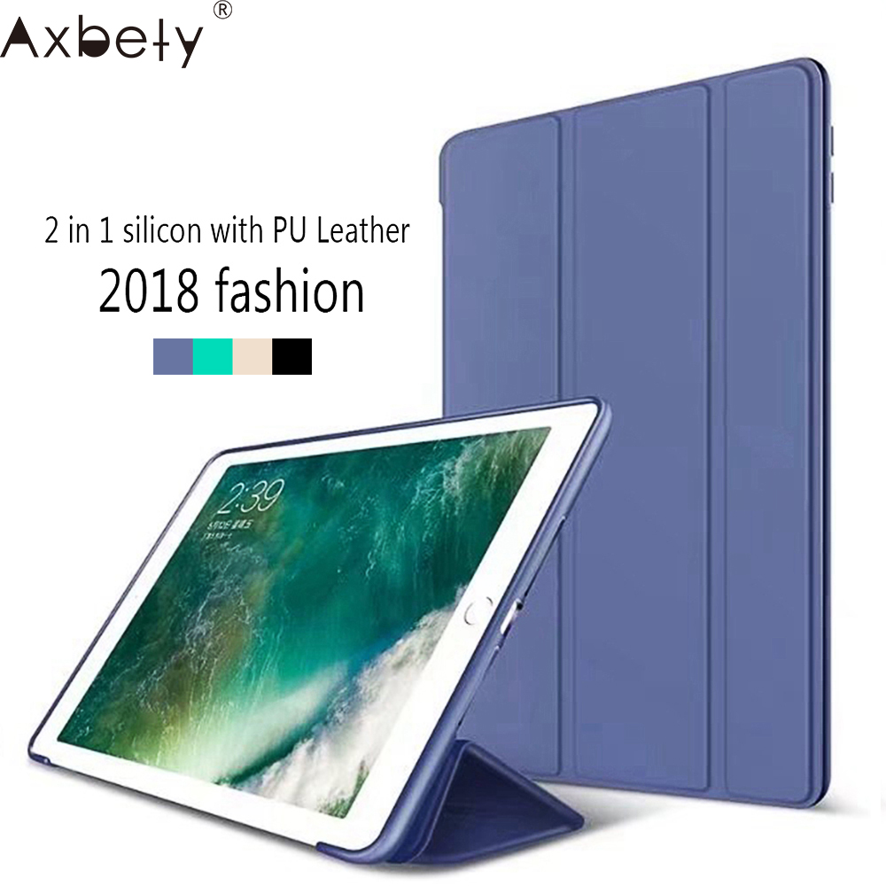 Coque For Apple ipad Air /ipad 5 Case Candy Silicon Soft Colorful back TPU & front PU leather 2 in 1 Cover Case For ipad 5 Case