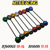 MTKRACING For Benelli BJ600GS 10 14 BN600i 11 15 CNC Motorcycle Front Rear wheel Axle Slider shock absorber Falling Protection