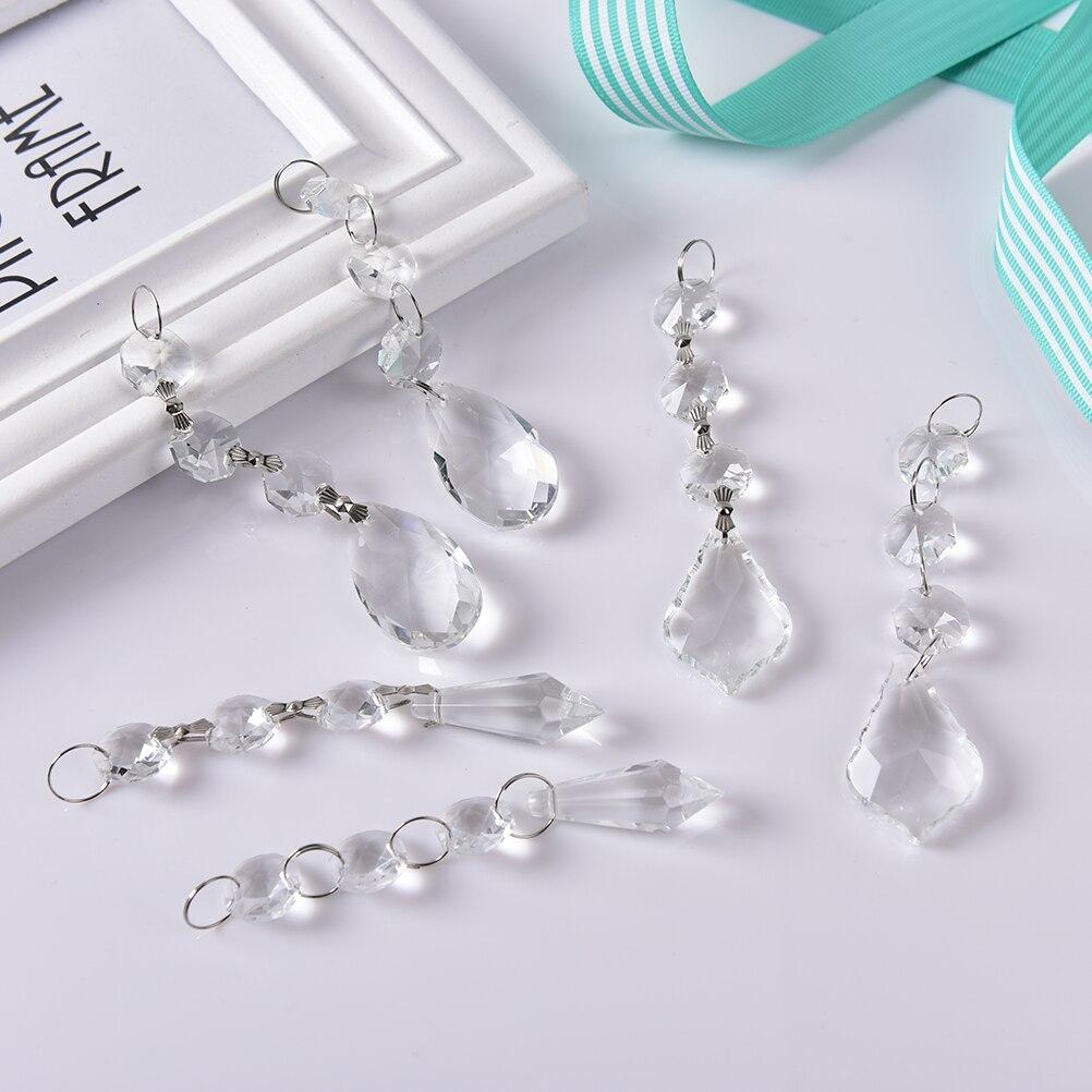 10pcs/lot Acrylic Crystal Beads Drop Shape Garland Chandelier ...