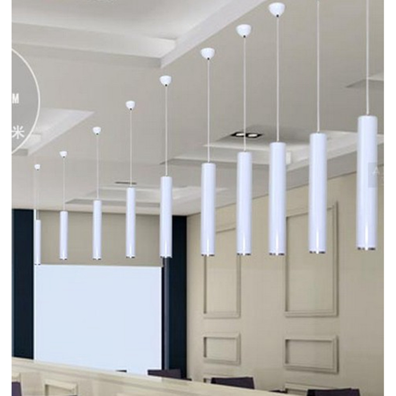 Lukloy Kitchen Island Pendant Lights Dining Room Bar Counter Decoration Cylinder Pipe Hanging Lamp Lighting Fixture