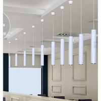 LukLoy Lámpara Colgante Luces de Isla de la Cocina Comedor Bar Tienda de Venta Libre, Decoración Tubo de cilindro Colgante Luces Luces de la Cocina