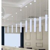 LukLoy Pendant Lamp Lights Kitchen Island Dining Living Room Shop Decoration Cylinder Aluminum Pendant Lights Kitchen